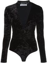 Fleur Du Mal leather choker bodysuit - women - Spandex/Elastane/Viscose - L