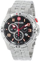 Wenger Men's 77056 Squadron Chrono Black Dial Steel Bracelet Watch