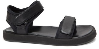 The Row Velcro-strap Leather Sandals - Black