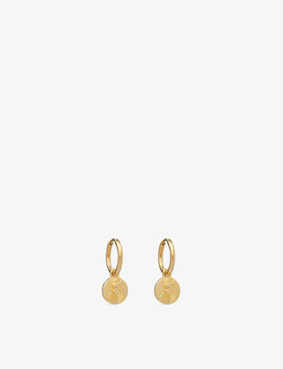 Rachel Jackson Luminary Art 22ct yellow gold-plated sterling silver huggie hoop earrings