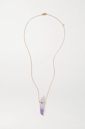 JIA JIA - 14-karat Gold Amethyst Necklace - Lilac