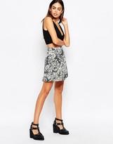 Motel Antonia Mini Skirt In Nouveau Print
