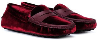 Tod's Exclusive to Mytheresa Gommino velvet loafers