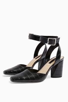 Topshop Womens **Wide Fit Gaze Black Court Shoes - Black