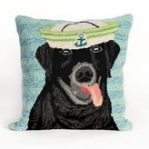 "Liora Manne Frontporch Salty Dog 18"" Pillow - Black"