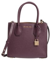 MICHAEL Michael Kors Mercer Leather Crossbody Bag - Purple