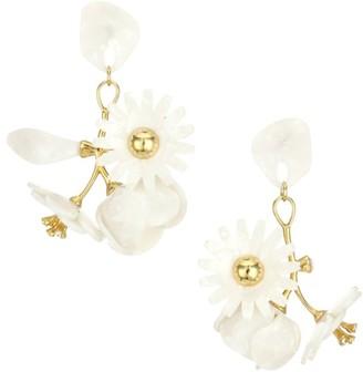 Lele Sadoughi Petite Rapunzel Floral Chandelier Earrings