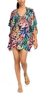 Bar III Hidden Jungle Printed Tunic Cover-Up, Created for Macy's Women's Swimsuit
