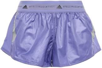 adidas by Stella McCartney Run Az Mesh-trimmed Printed Shell Shorts