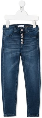 Dondup Crystal Button Jeans
