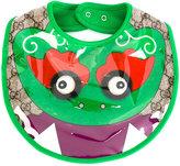 Gucci Kids - dragon print bib - kids - Cotton/Polyurethane/Viscose - One Size