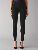 7 For All Mankind High Waist Skinny Slim Illusion Luxe Jeans, Black