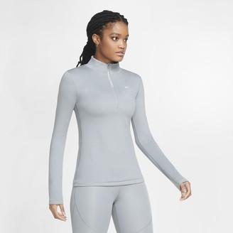 Nike Women's Long-Sleeve 1/2-Zip Top Pro Warm