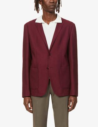 Emporio Armani Single-breasted woven blazer