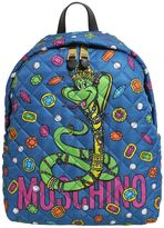 Moschino Snake Print Quilted Backpack