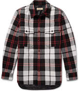 Burberry Quilted Checked Wool-blend Overshirt - Red