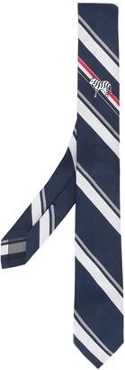 Thom Browne Bold Stripe Tiger Icon Classic Tie