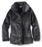 Classic Little Girls Fur Jacket-Dark Burgundy
