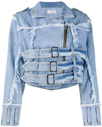 Faith Connexion distressed effect denim jacket