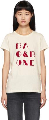 Rag & Bone Off-White Logo Vintage T-Shirt