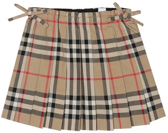 BURBERRY KIDS Baby Check cotton skirt