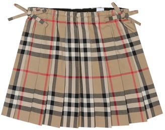 Burberry Baby Check cotton skirt