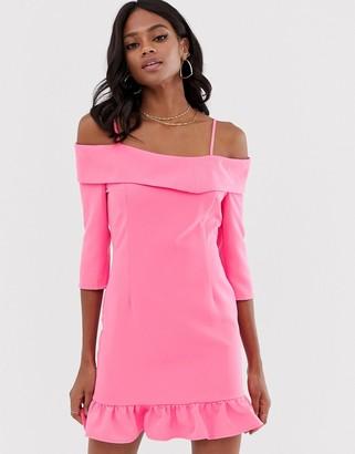 UNIQUE21 frill hem dress-Pink