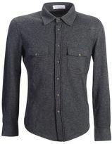 Brunello Cucinelli Virgin Wool And Cashmere Shirt Cardigan