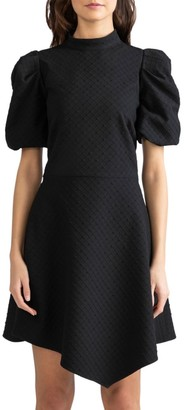 Shoshanna Elizabeth Ruched-Sleeve Dress