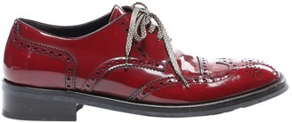Dolce & Gabbana Red Patent leather Lace ups