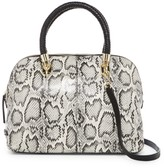 Cole Haan Benson Snake-Embossed Large Leather Dome Satchel