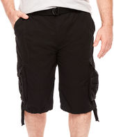 DMANTE D'Amante Enzyme Wash Cargo Shorts - Big & Tall
