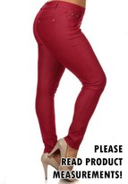 CurvyLuv.com Womens Plus Size Long Pants 5 Pocket Jeggings Leggings Skinny Casual (2X, )