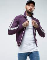 Fred Perry Sports Authentic Taped Track Jacket in Purple