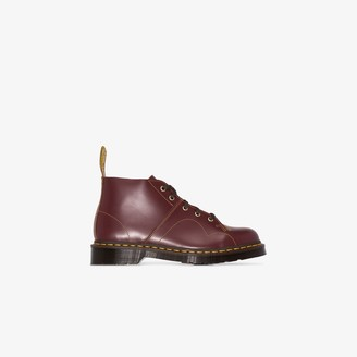 Dr. Martens Red Church leather boots