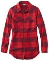 L.L. Bean Whisper Lodge Flannel Tunic Plaid