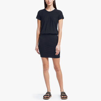 James Perse Stretch Jersey Blouson T-Shirt Dress