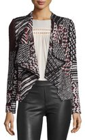 BA&SH Ilda Mixed-Weave Open-Front Jacket