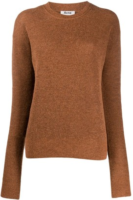 Acne Studios Crew Neck Dropped Shoulders Jumper