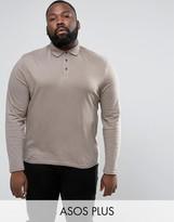 Asos PLUS Long Sleeve Jersey Polo