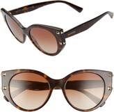Valentino 53mm Polarized Gradient Cat Eye Sunglasses