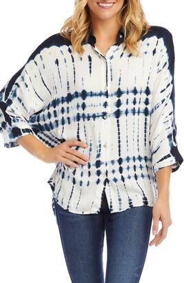 Karen Kane Tie Dye Button Front Shirt