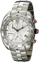 Tissot Men's 'PRS 330' Silver Dial Stainless Steel Chronograph Watch T076.417.11.037.00