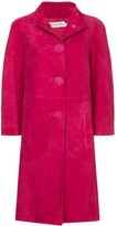 Christian Dior pre-owned nubuck single-breasted coat