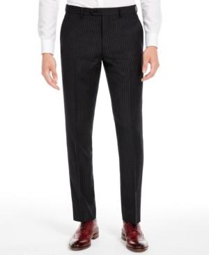 Bar III Men's Slim-Fit Black Stripe Suit Separate Pants, Created for Macy's