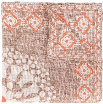 Brunello Cucinelli All-Over Print Handkerchief