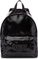 Givenchy Black Shiny Logo Backpack