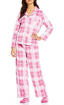 Karen Neuburger Holiday Plaid Microfleece Pajamas & Socks Set