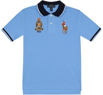 Polo Ralph Lauren Kids Logo cotton-piquA polo shirt