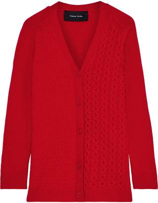 Simone Rocha Paneled Merino Wool And Cashmere-blend Cardigan
